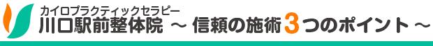 川口駅前整体院 信頼の施術3つのポイント