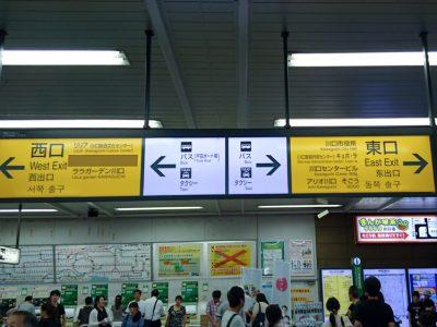 川口駅改札でたところ